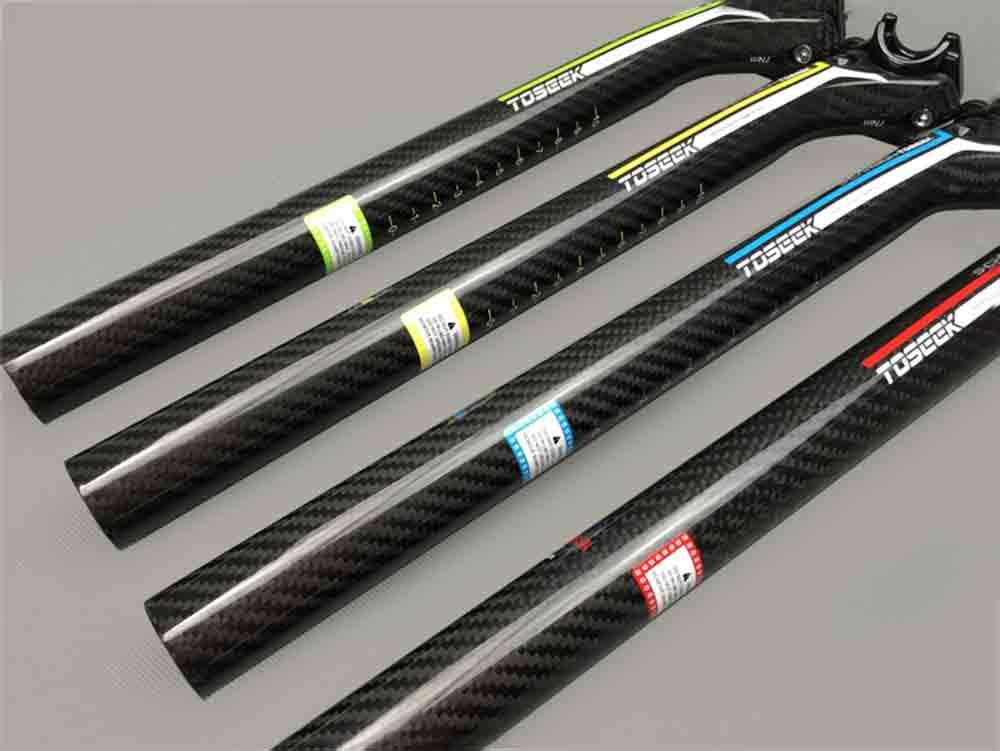Tige de selle Toseek couleur en carbone pour vélo VTT
