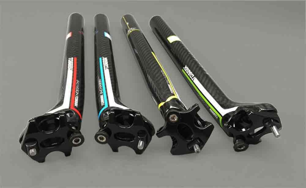 Tige de selle Toseek couleur en carbone pour vélo de route ou VTT