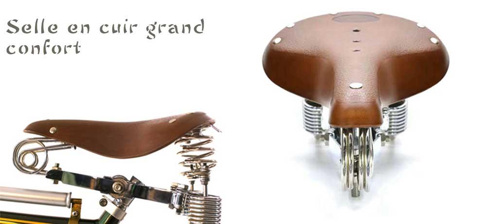 Craftsman selle en cuir grand confort
