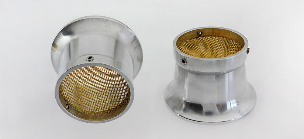 Modifier : Cornet aluminium avec filtre pour carburateur moto