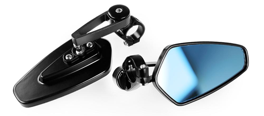 Paire de rétroviseur Miglia-way couleur noir look café racer
