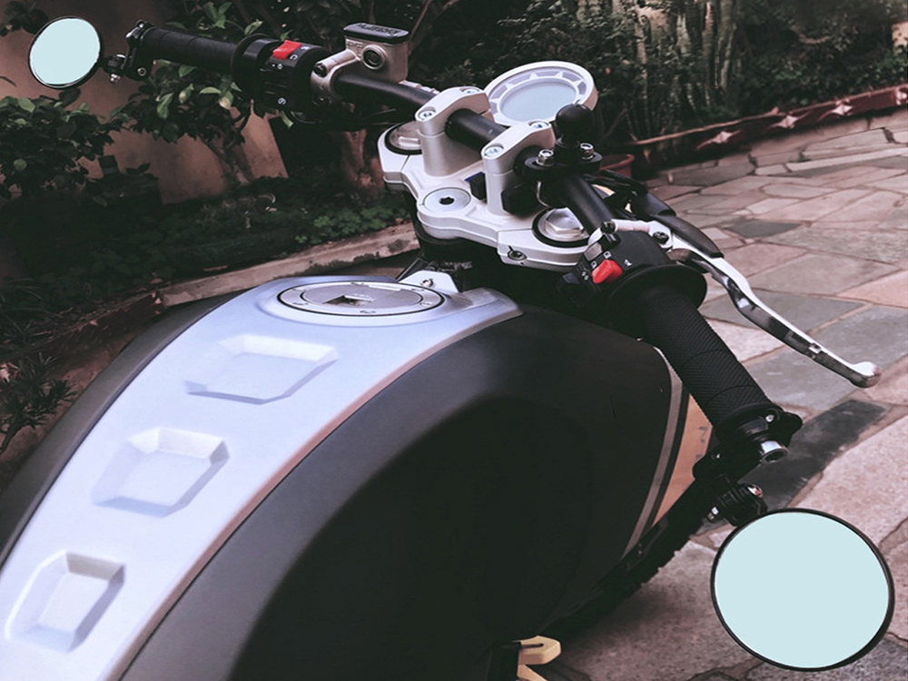 Paire de rétroviseur Dakota look café racer pour moto
