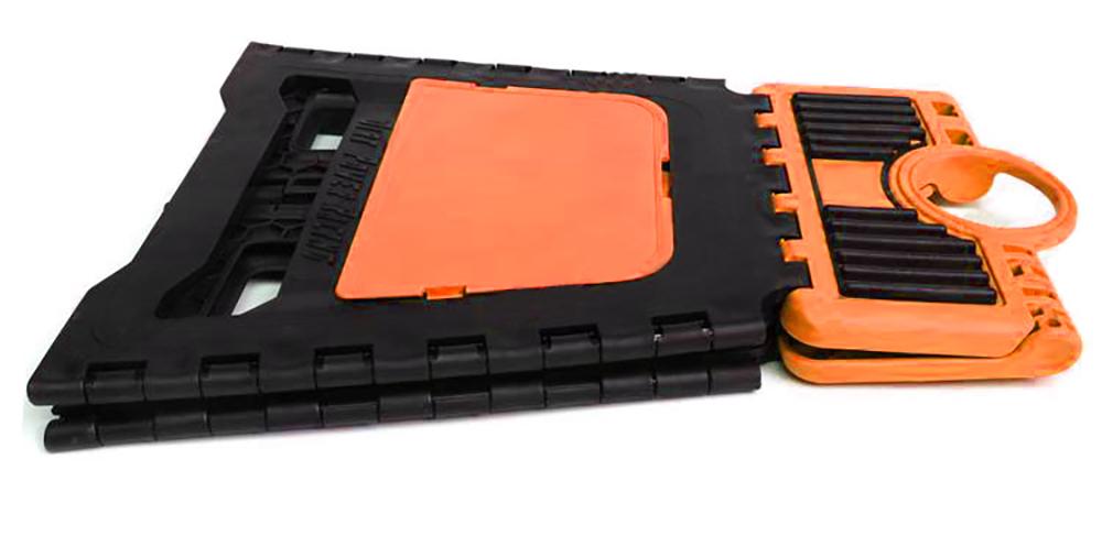 Support moto cross en plastique pliant incassable et léger couleur orange