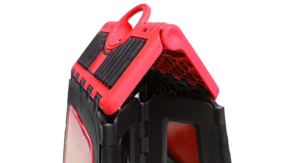 Support moto cross en plastique pliant incassable et léger couleur rouge