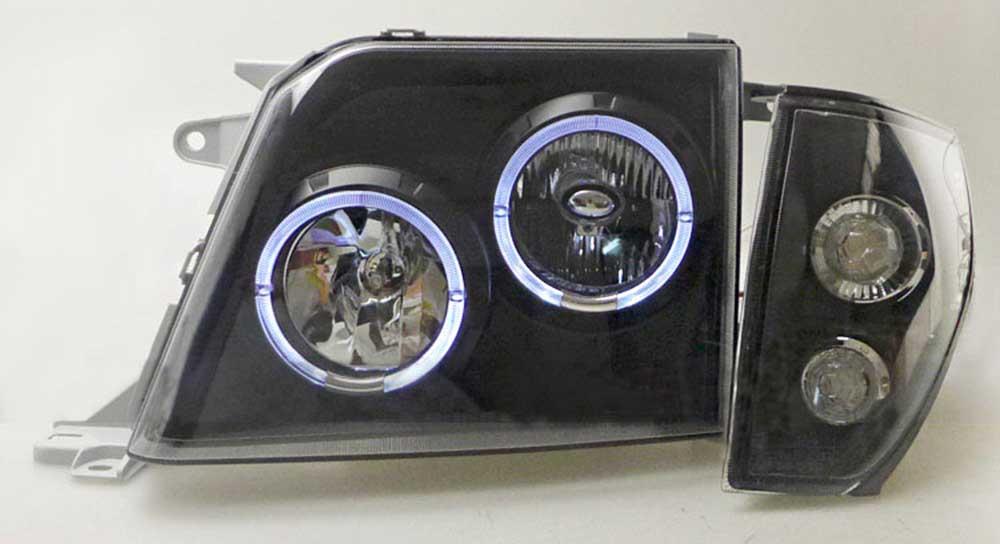Optique Land Cruiser KZJ 90 95 chrome noir