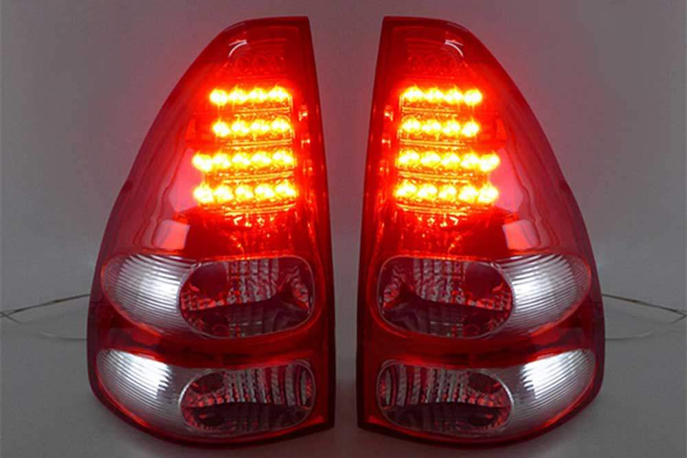 Feux arriere cristal toyota land cruiser KDJ 120 125 rouge blanc lighting