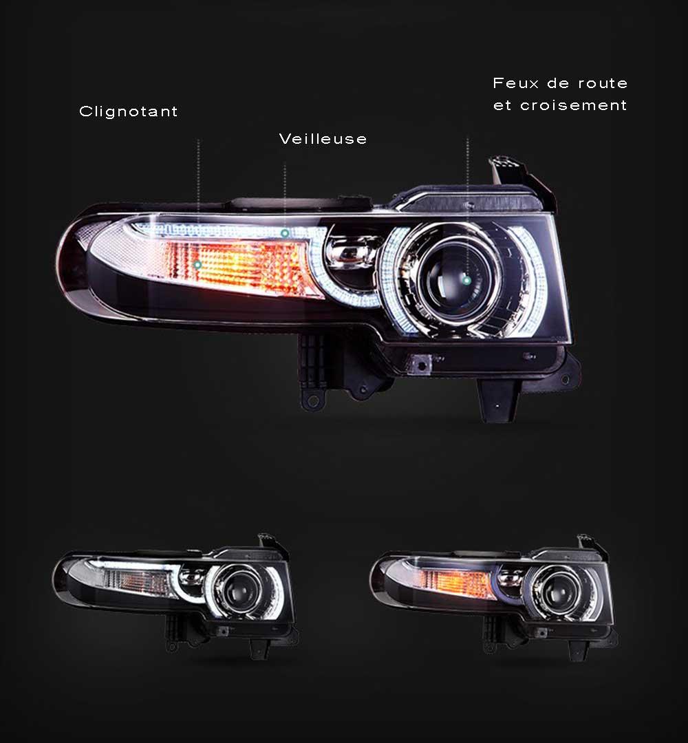 Phare FJ Cruiser LED avec calandre 2