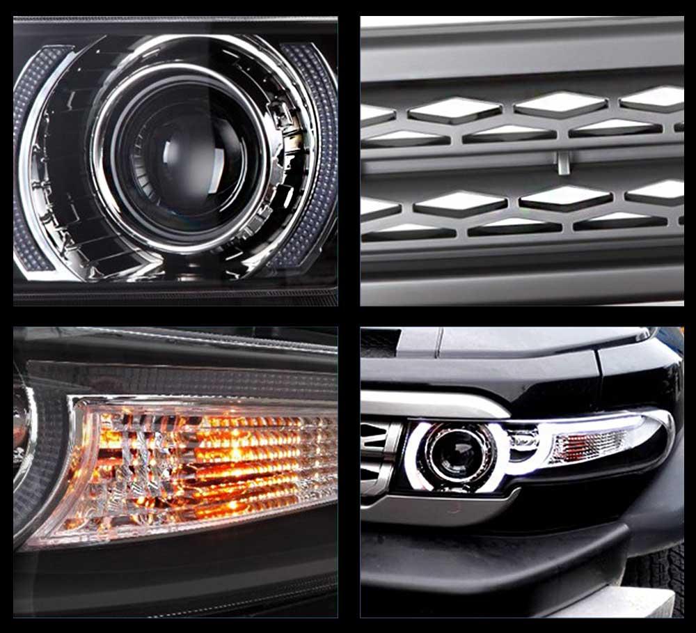 Phare FJ Cruiser LED avec calandre