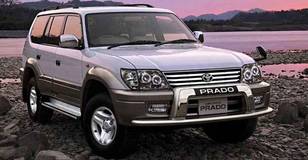 Toyota Land Cruiser coque de retroviseur chrome blanc