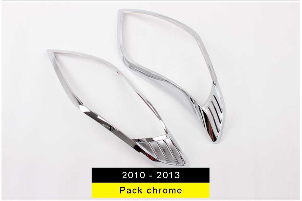 pack chrome optique de phare land cruiser 2010-2013
