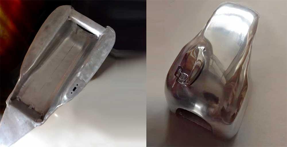 replica aluminium Yamaha 500-400-SR-Daytona back